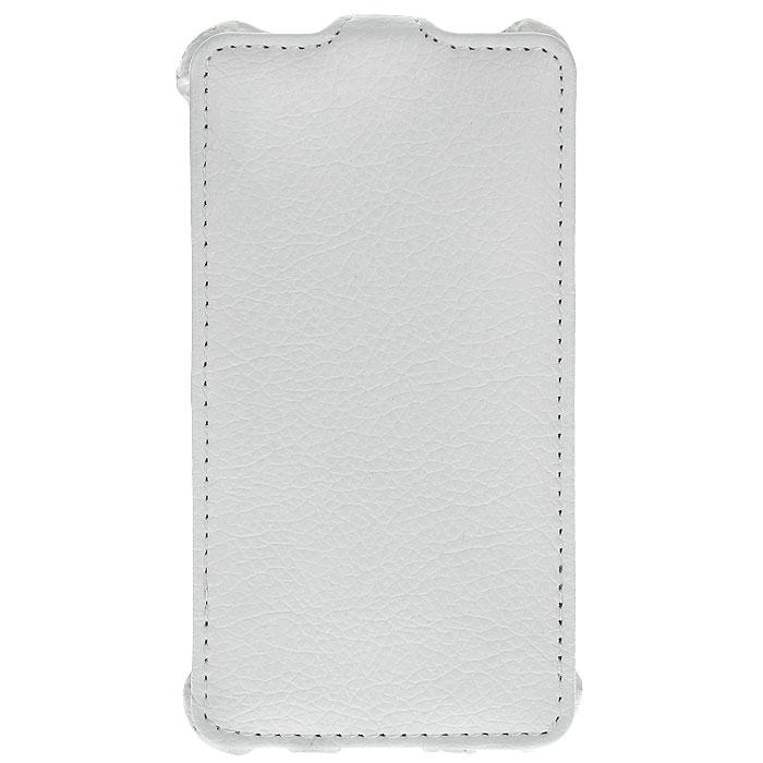 Ecostyle Shell чехол-флип для HTC Desire 400 Dual, White