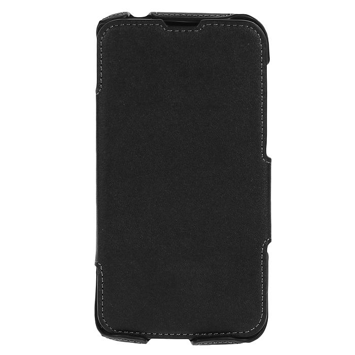 Untamo Accentika Book Case чехол для Huawei Ascend G730, BlackUACKFHUAG730BLСверхтонкий чехол из эко кожи и контрастной строчкой по краю Untamo Accentika Book Case для Huawei Ascend G730. Чехол плотно прилегает к смартфону, формируя жесткий каркас с поверхностью матовой эко-кожи. Подкладка из микрофибры обеспечивает дополнительную защиту устройства от механических повреждений.