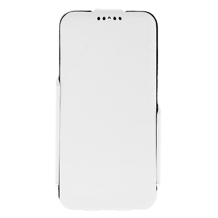 Untamo Rocca Flip Case чехол для Alcatel Idol 2 mini, WhiteURCFALIDOL2MWHУльтратонкий чехол Untamo Rocca Flip Case для Alcatel Idol 2 mini, изготовленный из эко кожи с металлической основой, оберегает ваш смартфон от механический повреждений, пыли и грязи. Он плотно прилегает к телефону, формируя жесткий каркас. Подкладка из микрофибры обеспечивает дополнительную защиту устройства от механических повреждений.