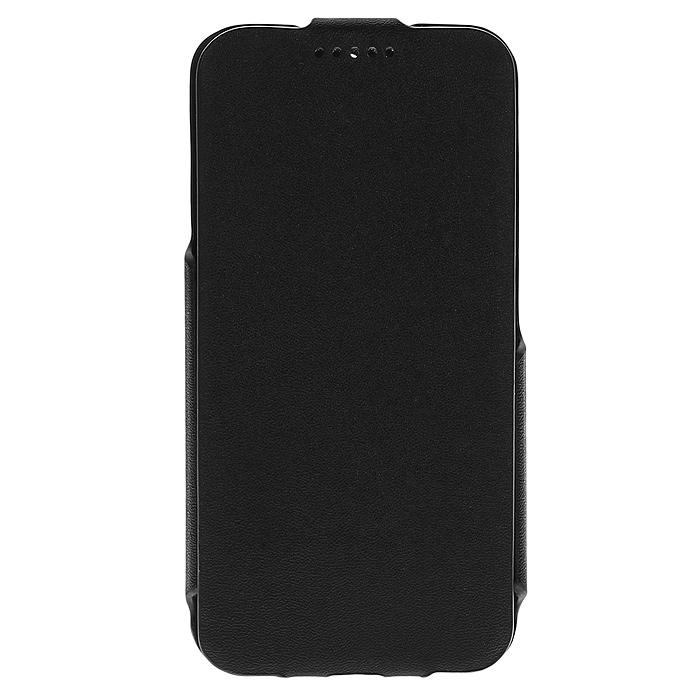 Untamo Rocca Flip Case чехол для Alcatel Idol 2 mini, BlackURCFALIDOL2MBLУльтратонкий чехол Untamo Rocca Flip Case для Alcatel Idol 2 mini, изготовленный из эко кожи с металлической основой, оберегает ваш смартфон от механический повреждений, пыли и грязи. Он плотно прилегает к телефону, формируя жесткий каркас. Подкладка из микрофибры обеспечивает дополнительную защиту устройства от механических повреждений.