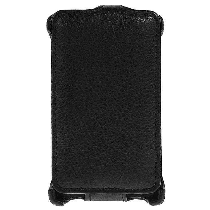 Ecostyle Shell чехол-флип для Nokia Asha 502, BlackESH-F-NOK502-BLЧехол-флип Ecostyle Shell для Nokia Asha 502 надежно защитит ваш телефон от механических повреждений, грязи и пыли. Конструкция чехла обеспечивает свободный доступ к разъемам, камере и основным функциям смартфона. Мягкая внутренняя поверхность защищает экран устройства от царапин.