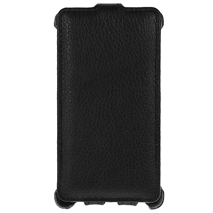 Ecostyle Shell чехол-флип для Nokia Lumia 525, BlackESH-F-NOKLU525-BLиз эко-кожи. Все разъемы, кнопки и камеры доступны без снятия чехла. Мягкая внутренняя поверхность для защиты устройства от повреждений.