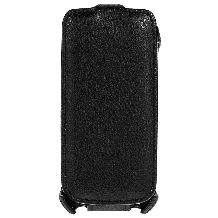 Ecostyle Shell чехол-флип для Nokia Asha 308, Black