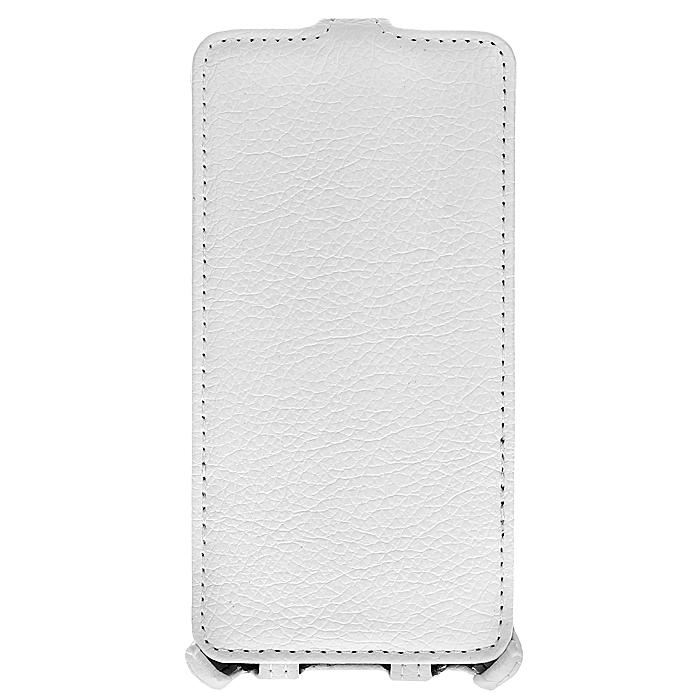 Ecostyle Shell чехол-флип для Fly IQ4403 Energie 3, WhiteESH-F-FLYIQ4403-WHЧехол-флип Ecostyle Shell для Fly IQ4403 Energie 3 надежно защитит ваш телефон от механических повреждений, грязи и пыли. Конструкция чехла обеспечивает свободный доступ к разъемам, камере и основным функциям смартфона. Мягкая внутренняя поверхность защищает экран устройства от царапин.