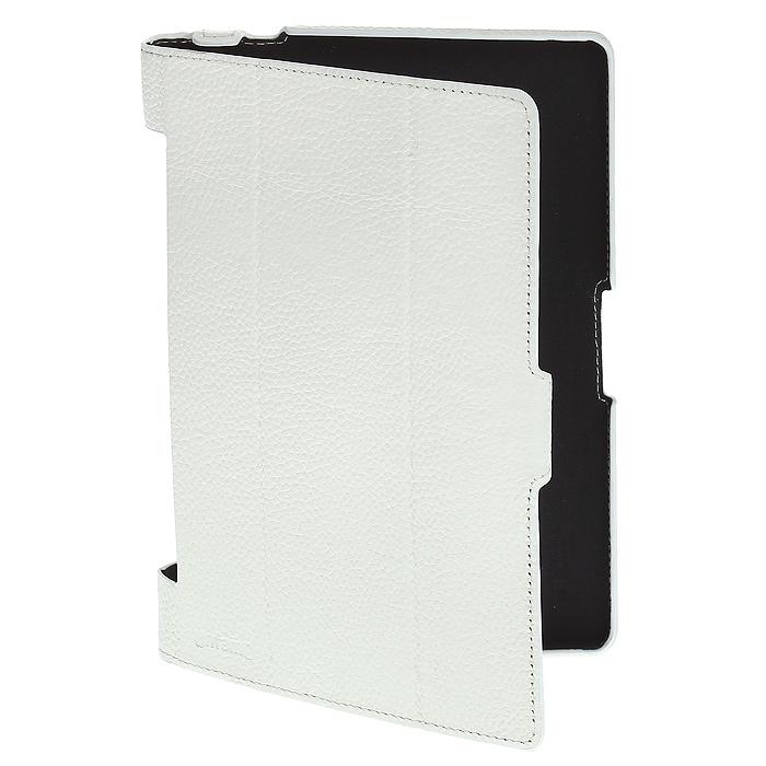 Untamo Alto чехол для Lenovo Yoga Tablet 8, White - UntamoUALLENY8WHЧехол Untamo Alto для Lenovo Yoga Tablet 8 изготовлен из натуральной кожи. Он защищает устройство от царапин и повреждений. Все кнопки и разъемы доступны без снятия чехла. Модель из тонкой кожи четко повторяет контуры устройства, не утяжеляя его. Внутренняя подкладка из мягкой ткани обеспечивает дополнительную защиту планшетного компьютера. Чехол позволяет устанавливать устройство в двух положениях - для печати и просмотра.