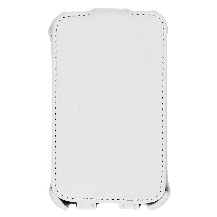 Ecostyle Shell чехол-флип для LG Optimus L3 II Dual E435, WhiteESH-F-LGE435-WHЧехол-флип Ecostyle Shell для LG Optimus L3 II Dual E435 надежно защитит ваш телефон от механических повреждений, грязи и пыли. Конструкция чехла обеспечивает свободный доступ к разъемам, камере и основным функциям смартфона. Мягкая внутренняя поверхность защищает экран устройства от царапин.