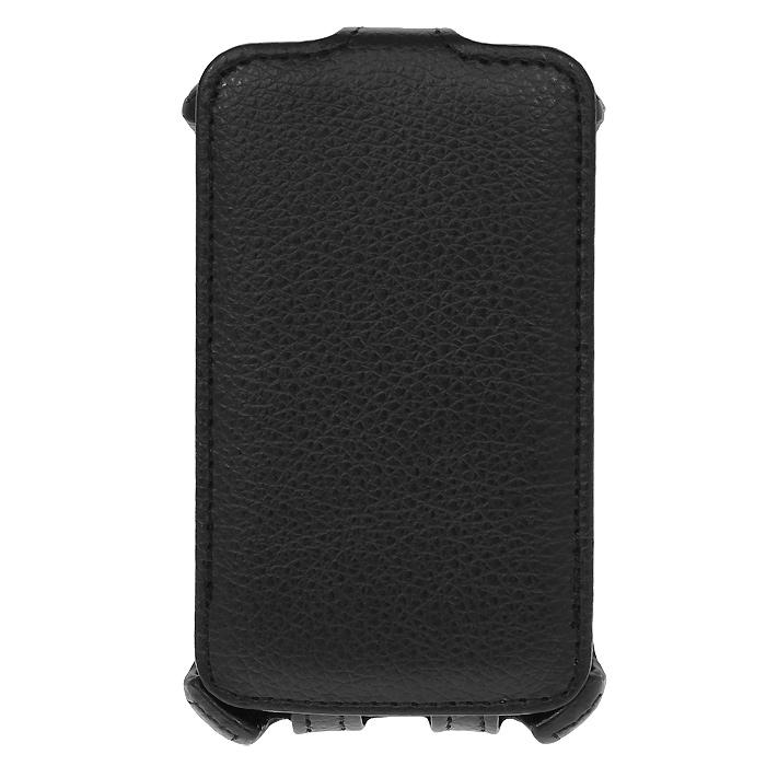 Ecostyle Shell чехол-флип для LG Optimus L4 II Dual E445, BlackESH-F-LGE445-BLЧехол-флип Ecostyle Shell для LG Optimus L4 II Dual E445 надежно защитит ваш телефон от механических повреждений, грязи и пыли. Конструкция чехла обеспечивает свободный доступ к разъемам, камере и основным функциям смартфона. Мягкая внутренняя поверхность защищает экран устройства от царапин.