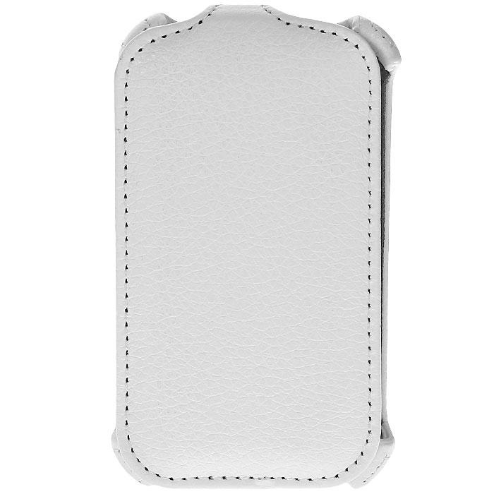 Ecostyle Shell чехол-флип для HTC Desire C, White