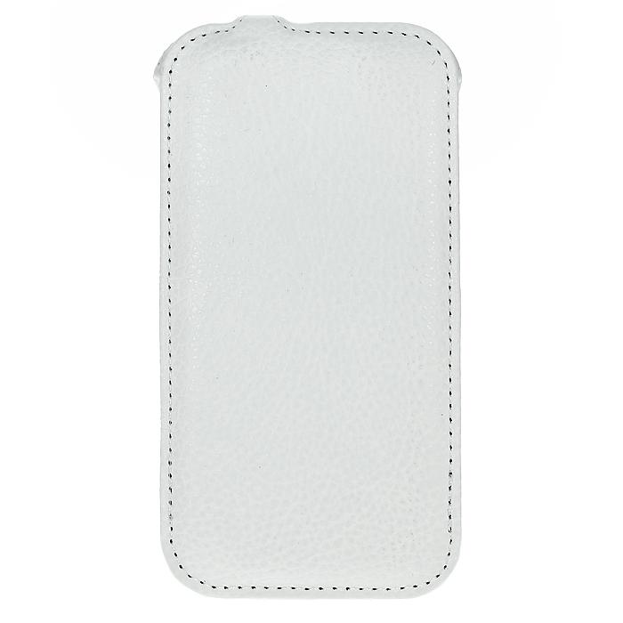 Ecostyle Shell чехол-флип для Lenovo S920, WhiteESH-F-LS920-WHЧехол-флип Ecostyle Shell для Lenovo S920 надежно защитит ваш телефон от механических повреждений, грязи и пыли. Конструкция чехла обеспечивает свободный доступ к разъемам, камере и основным функциям смартфона. Мягкая внутренняя поверхность защищает экран устройства от царапин.
