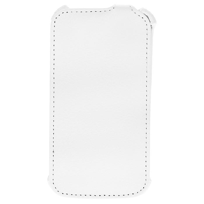 Ecostyle Shell чехол-флип для HTC Desire U, WhiteESH-F-HTCU-WHЧехол-флип Ecostyle Shell для HTC Desire U надежно защитит ваш телефон от механических повреждений, грязи и пыли. Конструкция чехла обеспечивает свободный доступ к разъемам, камере и основным функциям смартфона. Мягкая внутренняя поверхность защищает экран устройства от царапин.