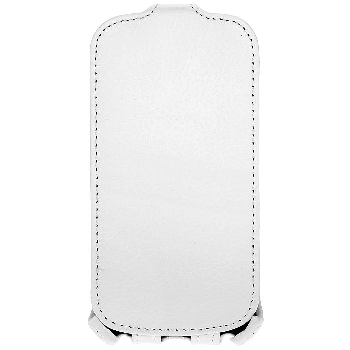 Ecostyle Shell чехол-флип для Samsung Galaxy S Duos S7562, WhiteESH-F-SSDUOS-WHЧехол-флип Ecostyle Shell для Samsung Galaxy S Duos надежно защитит ваш телефон от механических повреждений, грязи и пыли. Конструкция чехла обеспечивает свободный доступ к разъемам, камере и основным функциям смартфона. Мягкая внутренняя поверхность защищает экран устройства от царапин.