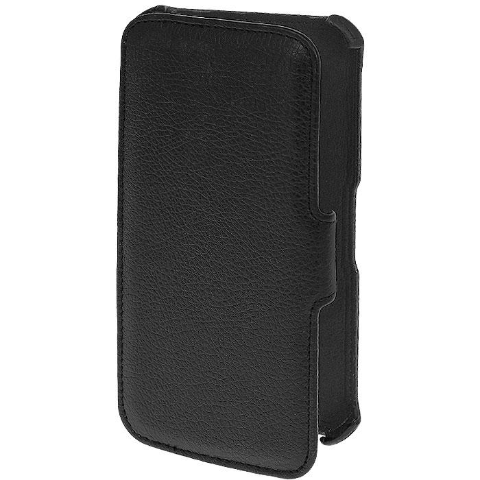 Ecostyle Shell чехол-книжка для Samsung Galaxy Mega 5.8, BlackESH-B-SGI9150-BLЧехол-книжка Ecostyle Shell для Samsung Galaxy Mega 5.8 надежно защитит ваш телефон от механических повреждений, грязи и пыли. Конструкция чехла обеспечивает свободный доступ к разъемам, камере и основным функциям. Мягкая внутренняя поверхность защищает экран устройства от царапин. Также этот чехол можно использовать в качестве удобной подставки для вашего смартфона при просмотре видео.