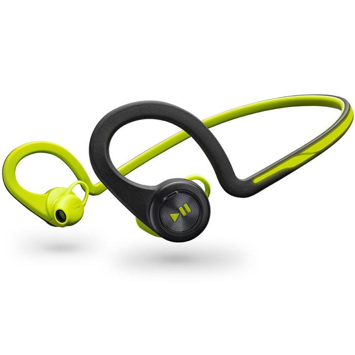 Plantronics BackBeat FIT, Green Bluetooth-гарнитура200460-05Каким бы видом спорта вы ни занимались, вас всегда будут сопровождать гибкие и устойчивые к влаге беспроводные стереонаушники Plantronics BackBeat FIT. Благодаря великолепному качеству звучания вы четко слышите музыку, а дизайн, разработанный с учетом требований безопасности, позволяет слышать окружающие звуки и быть заметным в темноте. Многофункциональный нарукавник защищает ваш смартфон во время движения и служит для хранения наушников после тренировки - идеально подходит для занятий спортом. Удобные, надежные и созданные для активного образа жизни наушники BackBeat FIT обладают гибкой конструкцией, удобно фиксируются и остаются на месте во время любых упражнений. Легко доступные элементы управления, расположенные на ухе, позволяют вам двигаться и управлять воспроизведением музыки или телефонными вызовами, а неопреновый нарукавник, входящий в состав комплекта, надежно защищает ваш смартфон. BackBeat FIT идеально подходят как для тренировок в...