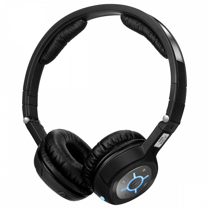 Sennheiser MM 400-X беспроводная гарнитура504511Sennheiser MM 400-X - современная Bluetooth-стереогарнитура для мобильных телефонов и смартфонов. Управление гарнитурой осуществляется одной многофункциональной кнопкой. Вы можете легко переключать гарнитуру из режима разговора в режим воспроизведения музыки. Скрытый микрофон обеспечивает ясное и разборчивое звучание Вашей речи, а наушники воспроизводят музыку с качеством CD диска при помощи кодека apt-X. Большие удобные амбушюры способствуют полному расслаблению и комфорту в условиях повышенного шума. Устройство имеет заменяемый аккумулятор, удобную складную конструкцию, а также простое управление - кнопки сгруппированы на одной из чашек наушников.