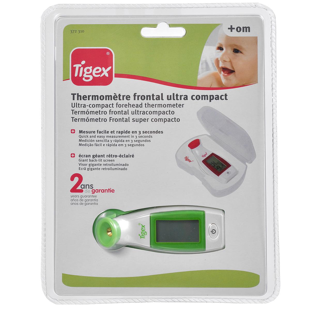 Термометр Tigex (Тижекс), электронный, налобный, цвет: салатовый372 310 салатовый