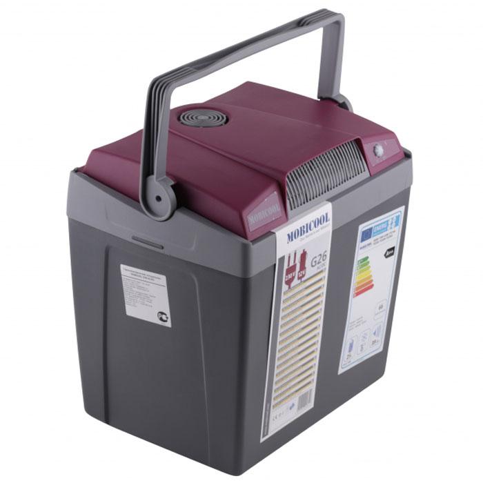 MOBICOOL G26 мобильный холодильник 26 л, Gray RedG26 AC/DCТермоэлектрический мобильный холодильник MOBICOOL G26 предназначен для сохранности продуктов питания и напитков в летний зной. Объем этого бытового прибора равен 25 литрам. Сумка холодильник охлаждает до 20°С ниже окружающей температуры. Высота сумки холодильника позволяет разместить бутылки объемом 2 литра.