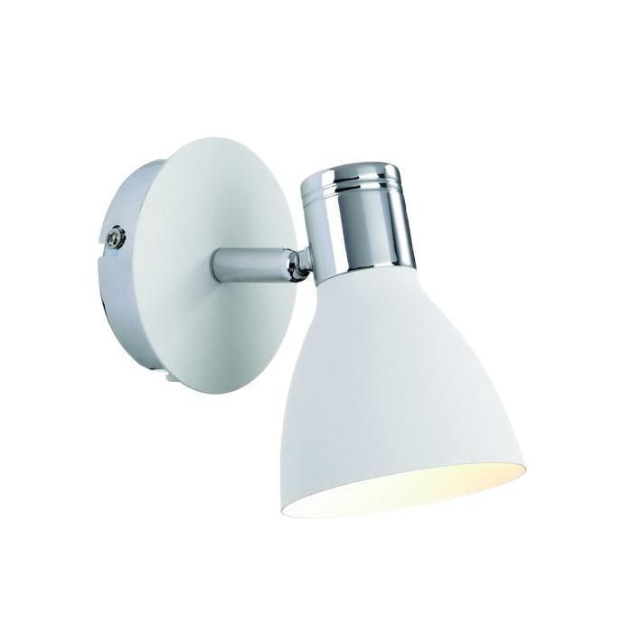 Настенно-потолочный светильник MarkSLojd HUSEBY 103064103064103064 Светильник настенный, HUSEBY, белый+хром, E14 1*40WW