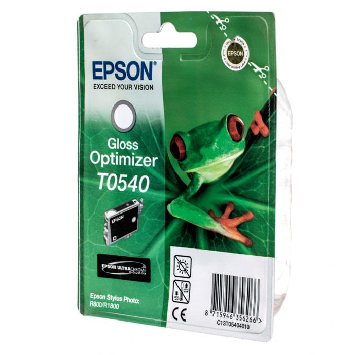 Epson T0540 Gloss Optimizer (C13T05404010) картридж оптимизатор глянца для Stylus Photo R800/R1800C13T05404010Картридж для оптимизации уровня глянца Epson C13T05404010 содержит в себе запатентованные чернила, которые способны удовлетворить
