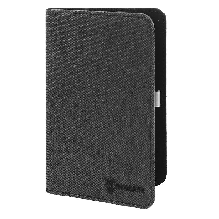 Vivacase Caviar текстильный чехол-обложка для Samsung Galaxy Tab 4 7.0, Black (VSS-STCV07-bl)VSS-STCV07-blЧехол Viva Caviar для Samsung Galaxy Tab 4 7.0 - прекрасный выбор для тех, что заботится не только о сохранности своего устройства, но и о стиле. Он изготовлен из качественного текстиля, а мягкая подкладка приятна на ощупь и предотвращает появление царапин на корпусе и дисплее. Крепление HVS (пластиковые уголки) позволяет надежно зафиксировать электронное устройство. Также чехол имеет возможность установки планшета под двумя разными углами для удобного набора текста или просмотра видео. В закрытом положении чехол удерживает широкая резинка черного цвета.