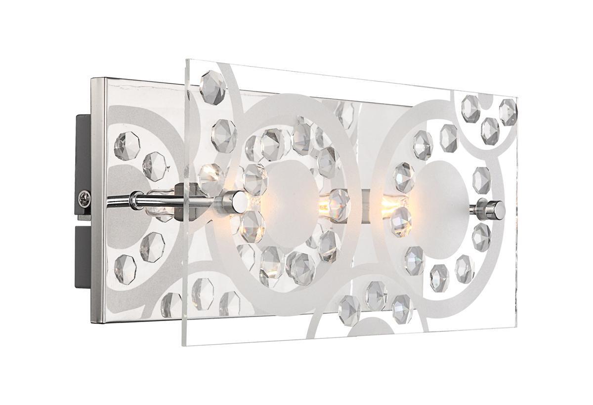 48690-2 Настенно-потолочный светильник DIANNE48690-2Бра Globo 48690-2 Dianne идеально подойдет для интерьеров в стиле модерн. Настенно-потолочный светильник Globo 48690-2 Dianne, выполнено в современном стиле. Материал основания светильника металл цвета хром, материал декора кристаллы-К5 и стекло, в светильнике 2 лампы с цоколем G9 мощность 33W
