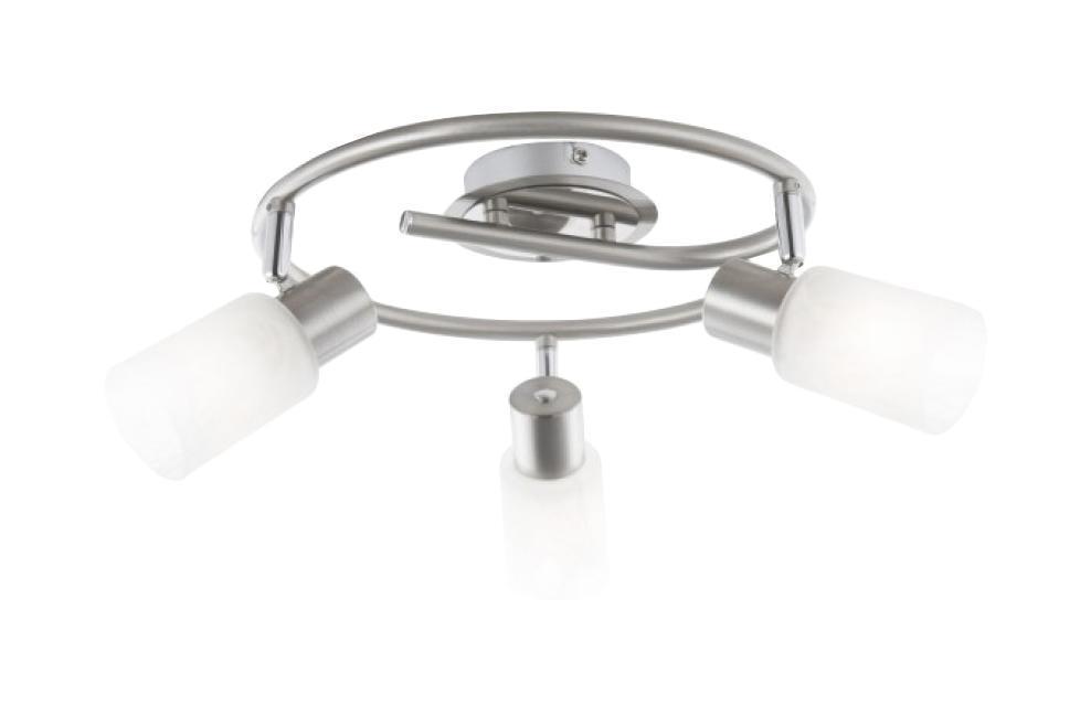 54913-3 Настенно-потолочный светильник KATI54913-3Споты GLOBO 54913-3 в современном стиле - идеальный вариант для оформления элегантного интерьера спальни. Металлическое основание цвета никеля, плафон изготовлен из стекла. Точечный светильник с максимальной мощностью 120W осветит комнату, площадью 6 кв.м. Материал: Арматура: Металл/Плафон: Стекло Цвет: Арматура: Серебристый/Плафон: Белый Размер: 29х29х19 Материал: Арматура: Металл/Плафон: Стекло Цвет: Арматура: Серебристый/Плафон: Белый Размер: 29х29х19