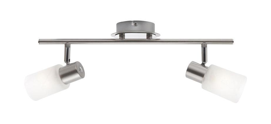 54913-2 Настенно-потолочный светильник KATI54913-2Споты GLOBO 54913-2 в современном стиле выглядят дорого и солидно, гармонично впишутся в интерьер кухни. Металлическое основание серого цвета, материал плафона из стекла. Точечный светильник с максимальной мощностью 80W осветит комнату, площадью 4 кв.м. Материал: Арматура: Металл/Плафон: Стекло Цвет: Арматура: Серебристый/Плафон: Белый Размер: 42,5х19х19 Материал: Арматура: Металл/Плафон: Стекло Цвет: Арматура: Серебристый/Плафон: Белый Размер: 42,5х19х19
