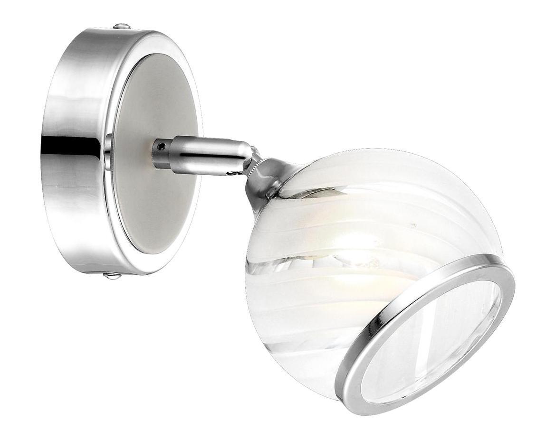 68-1 Настенно-потолочный светильник AILA68-1Бра GLOBO 68-1 в стиле модерн достаточно популярны, идеально подойдут при оформлении интерьера кафе или ресторана. Металлическое основание цвета никеля, плафон изготовлен из стекла. Бра с максимальной мощностью 33W осветит комнату, площадью 2 кв.м.