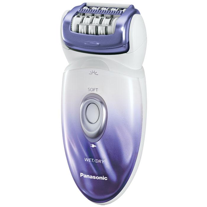Panasonic ES-ED20-V520 эпиляторES-ED20-V520Эпилятор Panasonic ES-ED20-V520 - элегантный и стильный электроприбор для бережного удаления нежелательных волос. Аппарат можно использовать не только для традиционной сухой эпиляции, но и для влажной эпиляции, при которой на кожу наносится кремообразная пена. Конструкция прибора позволяет удалять волосы находясь в ванне или принимая душ, что очень удобно. Подвижная головка эпилятора Panasonic ES-ED20-V520, благодаря особому углу наклона, плотно прилегает к коже, следуя за контурами тела и легко удаляя даже самые длинные и тонкие волоски. 48 пинцетов очень нежно и равномерно эпилируют волосы на руках и ногах, не вызывая болезненных ощущений, покраснений и раздражений на коже. LED-подсветка помогает не пропустить без эпиляции ни одного участка. Аппарат работает практически бесшумно и может бесперебойно функционировать от аккумулятора на протяжении 30-40 минут.