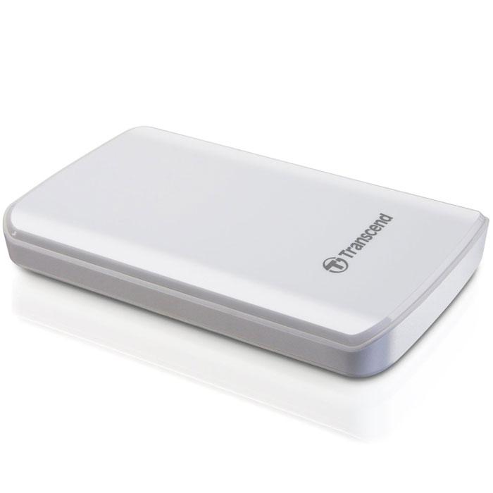 Transcend StoreJet 25D3 1TB, White внешний накопитель (TS1TSJ25D3W)TS1TSJ25D3WОдно из первых периферийных устройств, совместимых с USB 3.0 - это 2,5-дюймовый ударопрочный портативный жесткий диск Transcend StoreJet 25D3. Модель SuperSpeed USB 3.0 отличается более высокой производительностью, чем внешние жесткие диски с интерфейсом USB 2.0. Скорость передачи данных в реальных условиях достигает 90 МБ/с. StoreJet 25D3 представляет собой высокоскоростное и долговечное решение для работы со сложными современными устройствами благодаря повышенной скорости передачи данных и усовершенствованной конструкции. StoreJet 25D3 обратно совместим с интерфейсом USB 2.0, что дает возможность пользователям получить доступ к файлам практически с любого компьютера. Благодаря многоцветному светодиодному индикатору USB 3.0/2.0 можно с легкостью определить тип текущего соединения накопителя. При подключении по USB 2.0 индикатор будет оранжевым, при подключении по USB 3.0 индикатор будет синим. Под внешне хрупким корпусом с блестящим покрытием находится...