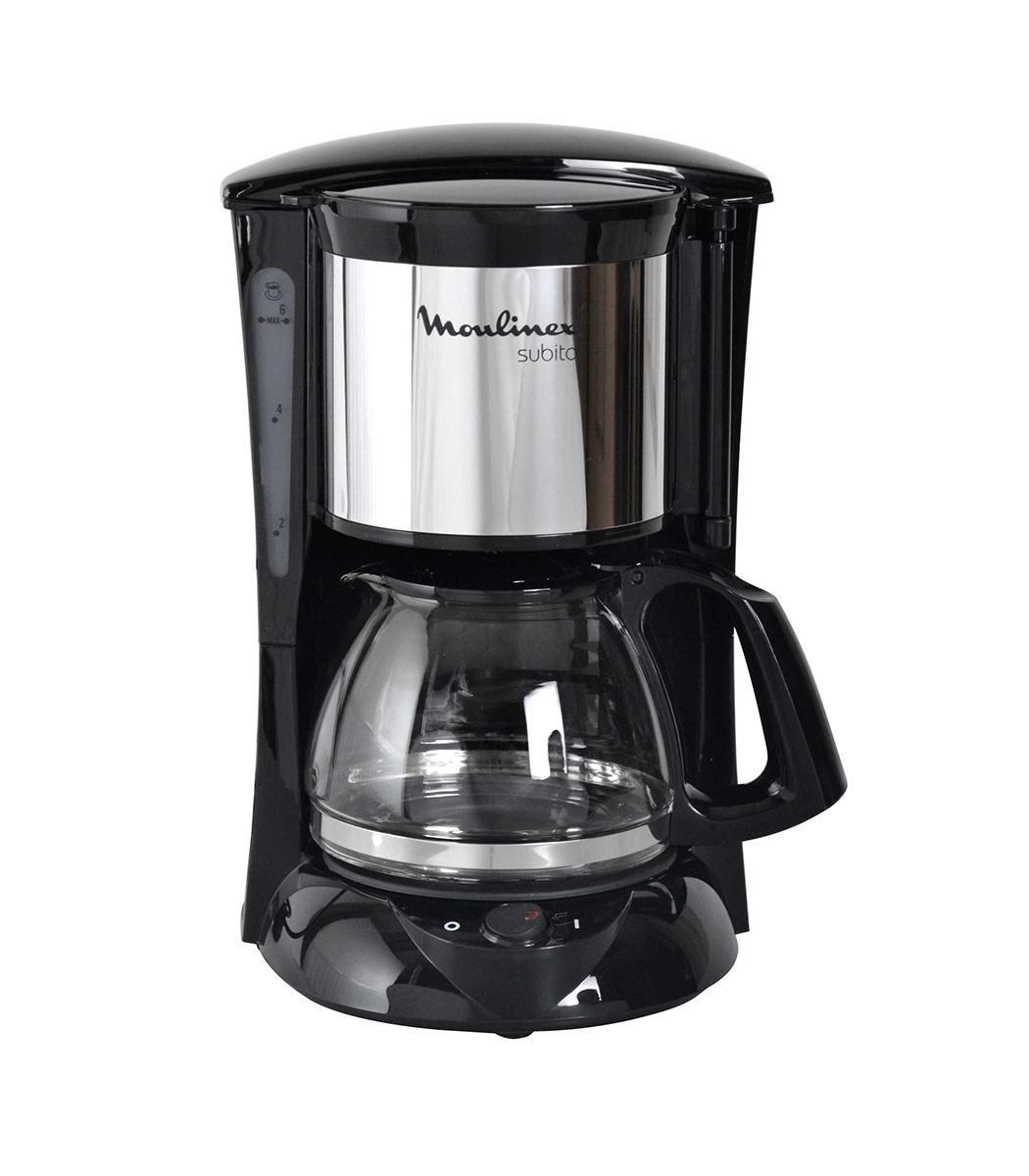 Moulinex FG151825 Subito Mini капельная кофеваркаFG151825 Subito MiniС капельной кофеваркой FG151825 Subito Mini вы можете создавать натуральный кофе без каких-либо хлопот! Работа этого устройства полностью автоматизирована - для приготовления напитка достаточно засыпать молотый кофе, залить воду в специальный резервуар и включить кофеварку нажатием кнопки. Стакан, в котором собирается кофе, останется горячим благодаря функции автоподогрева. Очень хорошо, что фильтр капельной кофеварки - постоянный, выполненный из нейлона. Объем емкости для кофе: 0,6 л.