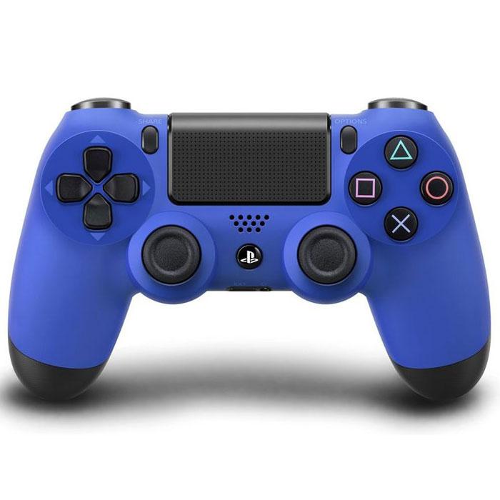 Беспроводной контроллер Dualshock 4 для PS4 (синий)64251Контроллер нового поколения Dualshock 4 представляет собой большой шаг вперед в развитии игровых устройств управления.Форма, покрытие и чувствительность его парных аналоговых джойстиков создают ощущение полного контроля над процессом игры. Новая сенсорная панель с поддержкой нескольких одновременных касаний и функцией щелчка, открывающая доступ к новым способам игры. Световая панель оснащена тремя цветными индикаторами, облегчающими идентификацию игрока при совместной игре с использованием камеры PlayStation Camera. Встроенный динамик и стереофонический разъем открывают для пользователей новые возможности в области игрового звука. Кнопки Start и Select заменены кнопками Share и Options. Для управления в играх служат кнопки направлений, кнопки действий и боковые кнопки. Также добавлена сенсорная панель, аналогичная задней панели системы PS Vita, но поддерживающая функцию щелчка, полезную при навигации в меню. На обратной стороне контроллера ...
