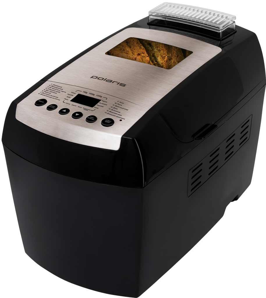Polaris PBM 1501D хлебопечкаPBM 1501DХлебопечка Polaris PBM 1501D дает возможность выпекать натуральные хлебобулочные изделия в домашних условиях. Прибор оснащен мощностью в 890 Вт, чего вполне достаточно для выпекания самых разнообразного хлеба: обычного, цельнозернового, французского, сладкого, ржаного, итальянского, молочного и хлеба без глютена. Кроме того, Polaris PBM 1501D умеет варить джем, кашу и замешивать тесто. Чаша для выпекания имеет антипригарное покрытие Teflon, к которому тесто не прилипает и не пригорает. Хлебопечка Polaris PBM 1501D оснащена таймером отсрочки до 15 часов и функцией поддержания температуры на 1 час. Для удобства в конструкции предусмотрен ЖК-дисплей. По истечению заданного времени хлебопечка издает звуковой сигнал, свидетельствующий об окончании выпекания. В комплекте с прибором Вы получаете книгу рецептов и прихватки в подарок! Хлебопечка оборудована14 автоматическими режимами и функцией «Домашняя программа», которая дает возможность устанавливать...