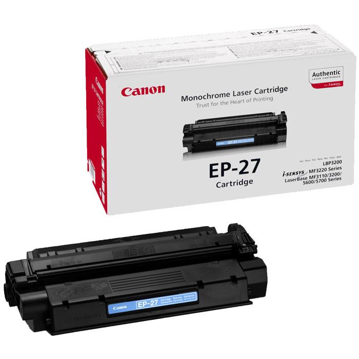 Canon EP-27 картридж-тонер для лазерных принтеров8489A002Canon EP-27 - оригинальный картридж-тонер для лазерных МФУ и принтеров Canon.