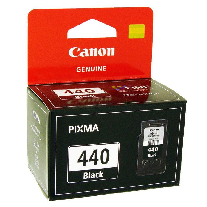 Canon PG-440BK, Black картридж для струйных МФУ/принтеров5219B001Canon PG-440BK - картридж с черными чернилами, которые используются для печати документов.