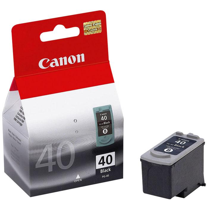 Canon PG-40BK, Black картридж для струйных МФУ/принтеров0615B025Оригинальный черный картридж Canon PG-40 с пигментными чернилами.