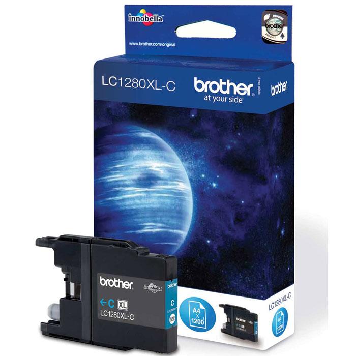 Brother LC1280XLC, Cyan струйный картридж для MFC-J6510DW, MFC-J69010DWLC1280XLCПри использовании оригинальных картриджей Brother LC-1280XL вы всегда будете получать впечатляющие