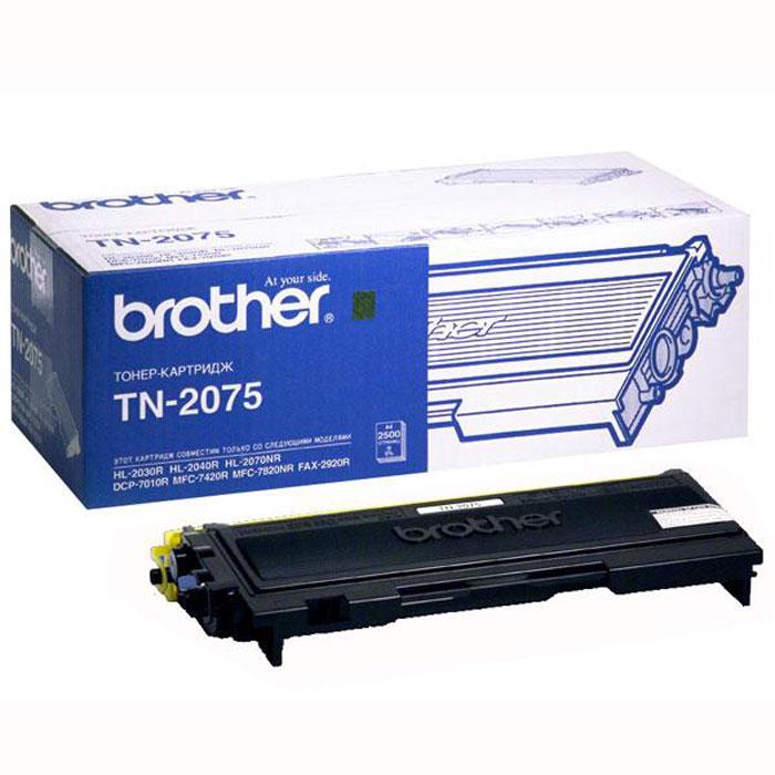 Brother TN2075 тонер картридж для HL-2030R/2040R/2070NRTN2075Оригинальный картридж Brother TN-2075 отличается качеством изготовления и износоустойчивоостью, с повышенным ресурсом печати. Предназначен для больших объёмов печати, поэтому идеально подойдет для использования дома и в офисе.