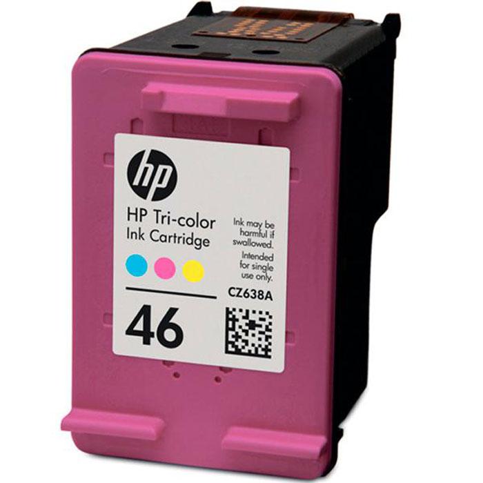 HP CZ638AE (46), трехцветный струйный картриджCZ638AEКартриджи HP CZ638AE (46) Advantage позволяют печатать высококачественные документы и яркие фотографии