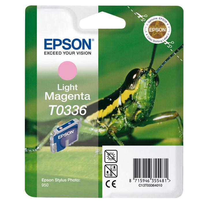 Epson T0336 (C13T03364010), Light Magenta картридж для SP950C13T03364010Картридж Epson c чернилами для струйной печати.
