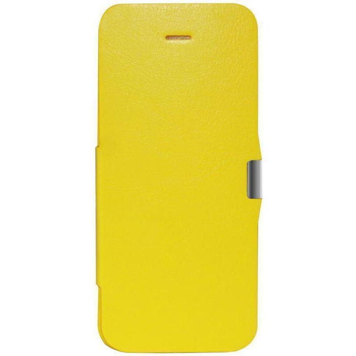 EXEQ HelpinG-iF03 чехол-аккумулятор для iPhone 5/5s/5c, Yellow (2300 мАч, флип-кейс)HelpinG-iF03 YEExeq HelpinG-iF03 имеет откидную крышку для надежной защиты экрана. С Exeq HelpinG-iF03 вы получите не только надежный защитный чехол, но и яркий аксессуар, идеально подходящий под цветовую гамму вашего iPhone. А с помощью встроенного аккумулятора вы сможете еще дольше наслаждаться широкими возможностями своего смартфона – чехол-аккумулятор Exeq HelpinG-iF03 сможет увеличить часы автономной работы вашего смартфона в два раза! Слушайте любимые мелодии, просматривайте популярные видеоролики, общайтесь в соцсетях и забудьте о постоянно разряжающейся батарее! Зарядка чехла-аккумулятора Exeq HelpinG-iF03 происходит аналогично зарядке телефона – от зарядного устройства телефона. Причем при любой зарядке телефон из чехла извлекать не нужно. Просто подключите зарядное устройство от телефона к чехлу и нажмите кнопку питания на чехле – телефон начнет заряжаться. Если кнопу питания не нажимать – начнется зарядка чехла.