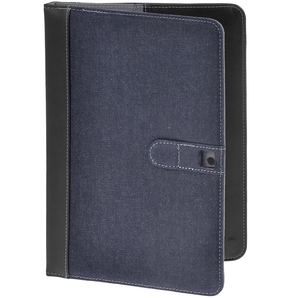 IT Baggage Jeans чехол для Prestigio Multipad 4 Diamond 10, Black BlueITPRE103-1Чехол IT Baggage Jeans для Prestigio Multipad 4 Diamond 10 - это стильный и лаконичный аксессуар, позволяющий сохранить планшет в идеальном состоянии. Надежно удерживая технику, обложка защищает корпус и дисплей от появления царапин, налипания пыли. Также чехол IT Baggage Jeans для Prestigio Multipad 4 Diamond 10 можно использовать как подставку для чтения или просмотра фильмов. Имеет свободный доступ ко всем разъемам устройства.