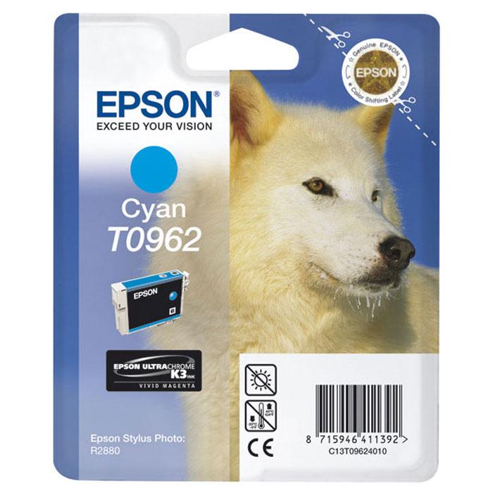 Epson T0962 (C13T09624010), Cyan картридж для R2880C13T09624010Картридж Epson с цветными чернилами для струйной печати.