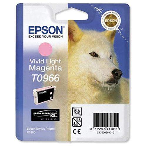Epson T0966 (C13T09664010), Vivid Light Magenta картридж для R2880C13T09664010Картридж Epson с цветными чернилами для струйной печати.