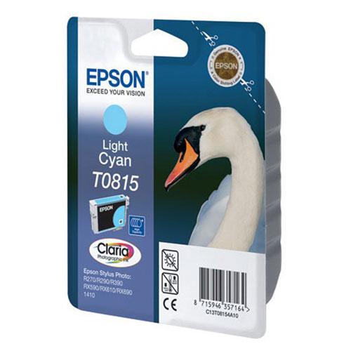 Epson T0815 (C13T11154A10), Light Cyan картридж для R270/RX590/T50/TX650/1410C13T11154A10Картридж Epson T081 с чернилами для струйной печати.
