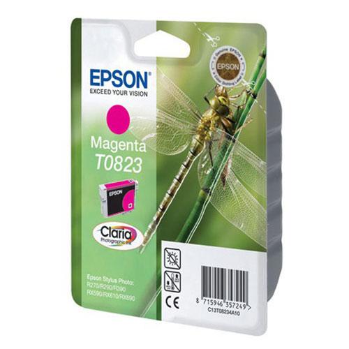 Epson T0823 (C13T11234A10), Magenta картридж для R270/R290/RX590/T50/TX650C13T11234A10Картридж Epson с чернилами для струйной печати.