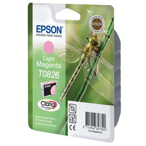 Epson T0826 (C13T11264A10), Light Magenta картридж для R270/R290/RX590/T50/TX650C13T11264A10Картридж Epson с чернилами для струйной печати.