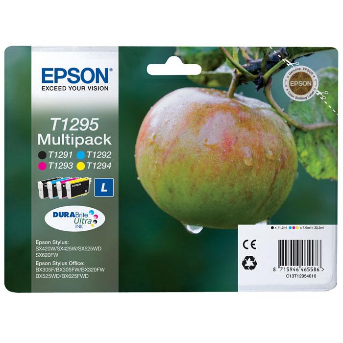 Epson T1295 Multipack (C13T12954010) комплект картриджей для SX425/SX525/BX305/BX320/BX625C13T12954010Экономичный набор из 4 картриджей повышенной емкости Epson C13T12954010 MultiPack (B,C,M,Y).