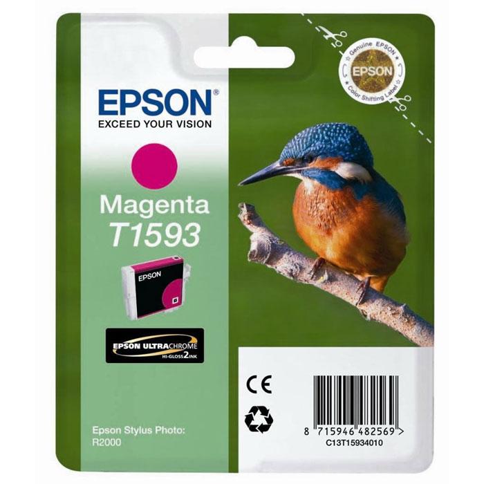 Epson T1593 (C13T15934010), Magenta картридж для R2000C13T15934010Картридж Epson с цветными чернилами для струйных принтеров.