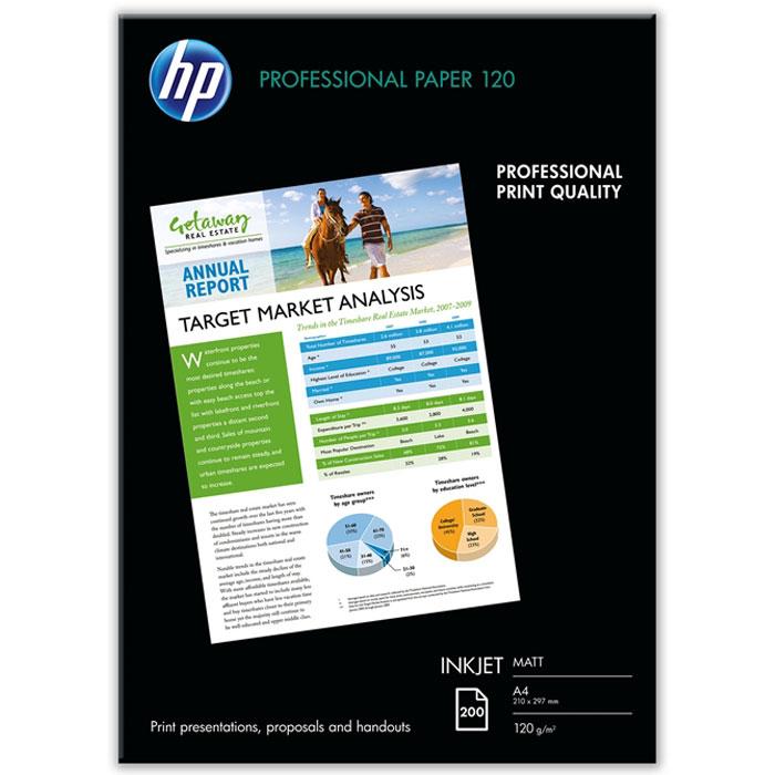 HP 120/A4/200л матовая двухсторонняя профессиональная бумага для струйной печати (Q6593A)