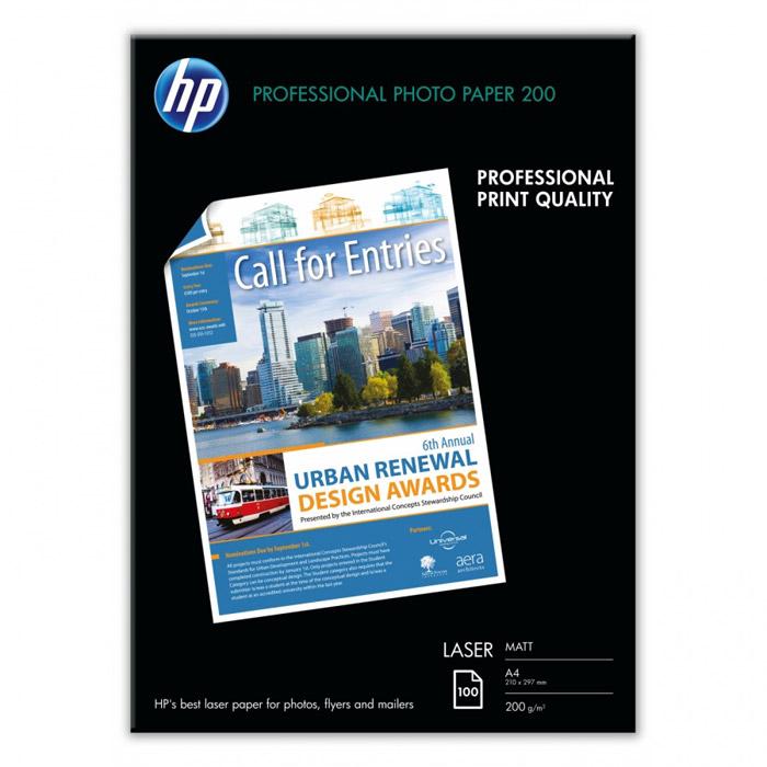 HP 200/A4/100л матовая фотобумага для лазерной печати (Q6550A)Q6550AМатовая профессиональная фотобумага HP для лазерной печати. Ярко-белая фотобумага формата A4 с двусторонним матовым покрытием для печати цветных фотографий непревзойденного качества. Благодаря этому, а также высокой плотности 200 г/м2, она является идеальным решением для печати своими силами насыщенных изображениями цветных документов профессионального качества Сверхгладкое матовое покрытие для получения потрясающих, насыщенных натуральных цветов. Возможность создания профессионально выглядящих фотографий и насыщенных фотографиями документов при помощи цветных лазерных принтеров или копиров. Ярко-белая отделка гарантирует превосходный контраст и реалистичную цветопередачу Эта прочная бумага плотностью 200 г/м2 придает Вашим фотографиям и маркетинговым материалам ощущение тяжести и солидности. Сверхгладкая матовая поверхность создает также впечатление качества, которое трудно не заметить Высокая степень непрозрачности для создания одно- или...